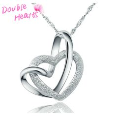 Find More Pendants Information about 2015 New Gift Hot models S925 Sterling Silver Pendant double female heart heart shaped Necklace Korean fashion jewelry wholesale,High Quality jewelry purple,China jewelry part Suppliers, Cheap jewelry replacement from Mc Ornaments on Aliexpress.com