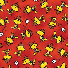 Camp Peanuts Woodstock Toss Red
