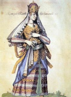 Haseki sultan-illustrations from the hand-colored German 1572 edition of Nicholas de Nicolay
