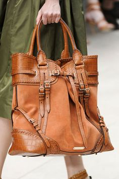 Burberry Prorsum spring 2012 collection.  My Other Fall Bag