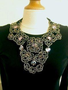 The Skull Zipper Necklace.