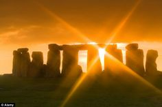 Shining through: The researchers said that as some stones in the monument have more natural, less neat outlines, it seems that the creators were making a special effort to allow a dramatic passage of sunlight through the stone circle at midsummer and midwinter