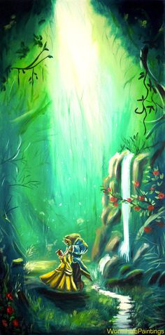 Beauty and the Beast...in the forest :) by WormholePaintings.deviantart.com on…