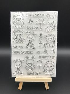Cartoon Animals Transparent Clear Silicone Stamp/Seal for DIY scrapbooking/photo album Decorative clear stamp sheets A555