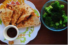 BBQ Chicken Quesadillas... Lunch!!