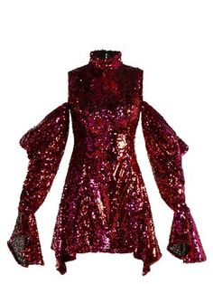 f99cd1a3d34e Sequin-covered cold-shoulder dress | Halpern | MATCHESFASHION.COM Stage  Outfits,