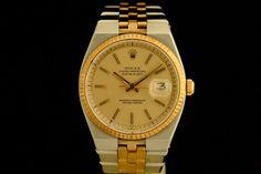 Rolex Datejust in Stahl/Gold (ca. 1978)  Art Jubilee-Band, Champagner Zifferblatt, Strich Indexe  Referenz: 1630 | 5,5 Mio-Serie  http://www.juwelier-leopold.de/uhren/rolex/vintage_3.html