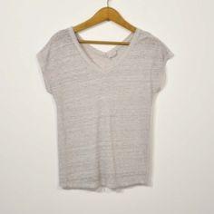 Camiseta lino topo