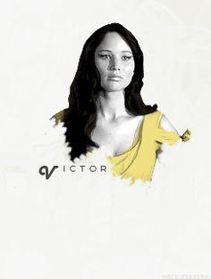 Hunger Games Katniss. Victor.