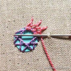Shisha embroidery with cretan stitch