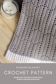 This light & airy crochet blanket pattern has a modern hexagon + chevron design. With 4 sizes including a baby/stroller blanket size, lapghan or crib blanket size, queen size, and king size you can crochet one for any part of your home. BONUS: the pattern also includes details on how to create a scarf, table runner, and shawl in this modern geometric filet crochet design! Modern Crochet Patterns, Crochet Blanket Patterns, Baby Blanket Crochet, Crochet Designs, Crochet Baby, Hexagon Crochet, Crochet Ideas, Crib Blanket Size, King Size Blanket