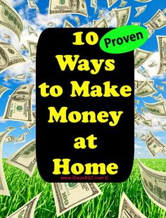 Ten Ways to Make Money at Home!  These are ways that I have done myself!  They WORK!  This helped me stay home with my daughter.  I feel as though I am here to teach you ways you can earn money too.  I've done Ebay, Babysitting, Pet walking, yard sales, consulting, blogging, and even reselling items on craigslist!  I've got all the tips you need RIGHT HERE!!!  This is a valuable post worth reading!