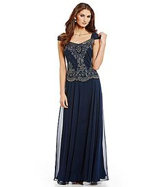 Jkara Beaded Bodice ALine Gown #Dillards another favorite