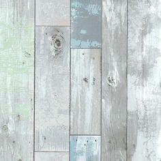 Blue Distressed Wood Panel