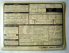 Documentos antiguos: TARJETA-CHULETA DISTEIN -1970 .SERIE FORMULARIOS Nº 2 FISICA - Foto 2 - 26288586