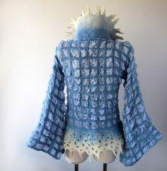 Nuno felted jacket - Blue   Galina Blazejewska   Flickr