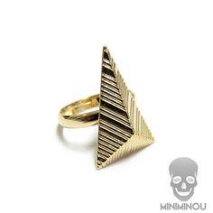 Anel pirâmide comprida - Miniminou