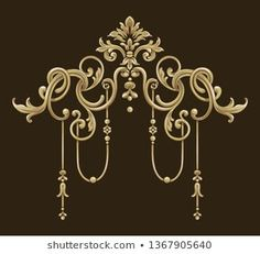 golden elements in baroque, rococo style Royal Art, Wood Carving Designs, Rococo Style, Ornaments Design, Baroque Fashion, Metal Wall Decor, Textile Prints, Pattern Wallpaper, Damask