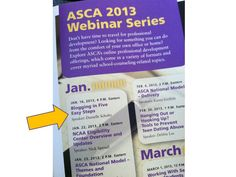 "School Counselor Blog: I'm Hosting an ASCA Webinar! ""Blogging in Five Easy Steps"""