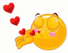 Love Smiley, Emoji Love, Animated Emoticons, Funny Emoticons, Love You Gif, Cute Love Gif, Smiley Emoji, Blow Kiss Gif, Bisous Gif