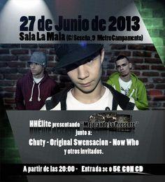 27 JUNIO HHELITE, SALA LA MALA MADRID