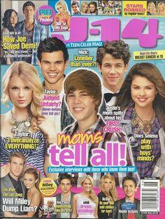 J-14 magazine Justin Bieber Taylor Swift Selena Gomez Nick Jonas Taylor Lautner