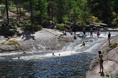 """Camping in Algonquin Park -Achray. View of """"waterslide"""" at High Falls Utah Camping, Camping World, Camping Gear, Camping List, Backpacking, Places To Travel, Places To See, Algonquin Park, Algonquin Camping"""