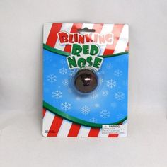"""Blinking Light up Flashing Red """"Rudolph"""" Nose by RI. $0.60. Plastic nose with elastic strap. Batteries included.. 1 ~ Blinking Red """"Rudolph"""" Nose ~ New in sealed package.. 2 Inch red """"Rudolph"""" like blinking flashing nose. Fun Holiday item.. Save 77%!"""