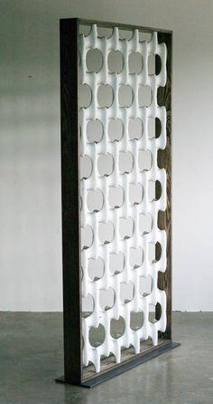 "Mid Century Retro Vintage Don Harvey 1960s ""Bone"" Screen Room Divider | Pinned by 360 Modern Furniture"