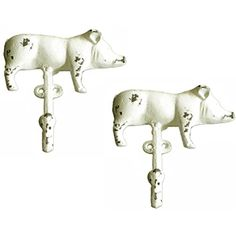 Cast Iron Shabby Chic Farmhouse Pig Wall Hooks (Set of Two) * You can get more details by clicking on the image. (This is an affiliate link) #KitchenBathFixtures
