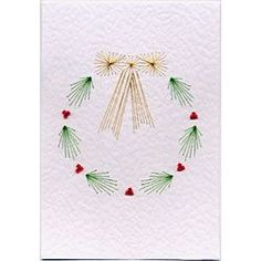 Free Holly Wreath Prick and Stitch e-pattern #paperembroidery