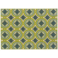 Oh dear! I can't decide! For my kitchen  Oriental Weavers Caspian Floral Medallion Indoor Outdoor Rug