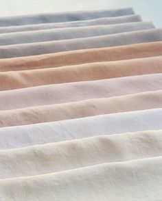 Shades of eucalyptus on linen, color inspiration, dreamy modern neutral color palette, wedding color palette inspiration Colour Schemes, Color Combos, Colour Palettes, Textiles, Textures Patterns, Color Patterns, Fabric Textures, Color Stories, Color Theory