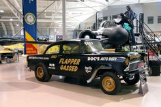 This cool Chevy gasser was one of the cars on under the hood. 1955 Chevy, 1955 Chevrolet, Chevrolet Trucks, Fancy Cars, Cool Cars, Drag Racing, Auto Racing, Custom Hot Wheels, Old Race Cars