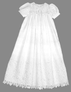 Eyelet Christening Gown by AnnaBouche on Etsy
