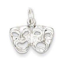 Comedy/tragedy Charm in Sterling Silver