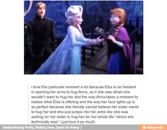 Frozen~Awwwww! <3 Ana is so wonderful! I'm glad that she got the hug she'd been waiting for! >u