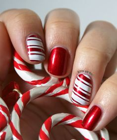 Glitter and Nails: Christmas Spirit & Candy Cane. OPI In my Santa Suit + MoYou