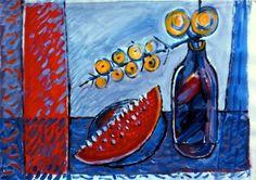 Wynand Smit Snr Artist / Architect - loved his blue & red/orange phase