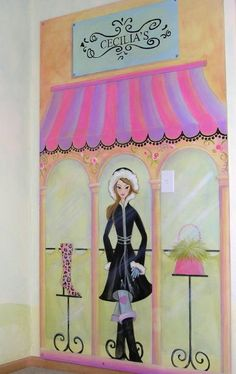 Fashion Boutique Bedroom for Girls by StickyPixies on Etsy, $600.00