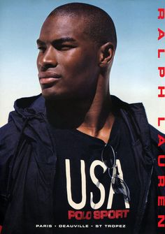 Tyson Beckford As the first black male model to be named the face of Ralph Lauren, Beckford was front-page news. In the decades since, he's become a brand in his own right, bringing his signature swagger to the worlds of acting and TV hosting.
