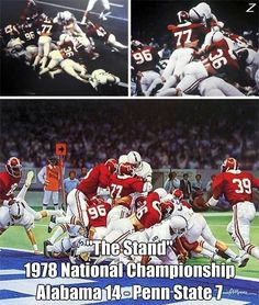 alabama vs. penn state   Alabama vs Penn State for the 1978 National Championship. The Tide ...