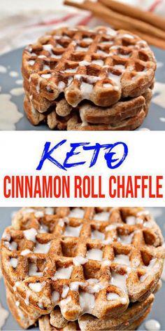 Keto Desserts, Keto Snacks, Easy Desserts, Dessert Recipes, Dinner Recipes, Cinnamon Desserts, Soup Recipes, Chili Recipes, Waffle Desserts