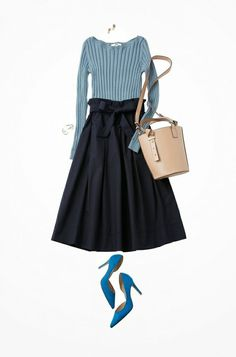 24 Pretty Street Style Ideas Trending Today Very Cute Fall Outfit. This Would Look Good Paired With Any Shoes. 24 Pretty Street Style Ideas Trending Today – Very Cute Fall Outfit. This Would Look Good Paired With Any Shoes. Work Fashion, Skirt Fashion, Fashion Looks, Fashion Outfits, Womens Fashion, Fashion Trends, Fashion Fashion, Japanese Fashion, Korean Fashion