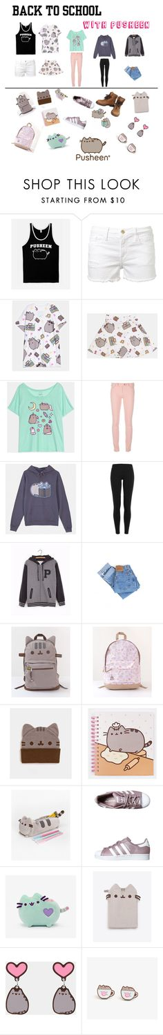 """#PVxPusheen"" by lenakiklu on Polyvore featuring Pusheen, Frame Denim, Balenciaga, Polo Ralph Lauren, Levi's, adidas Originals, Chanel, contestentry and PVxPusheen"