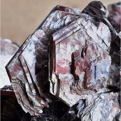 Zinnwaldite ~ Betafo, Vakinankaratra Region, Antananarivo Province, Madagascar ~ Zinnwaldite is a variety of muscovite rich in lithium.