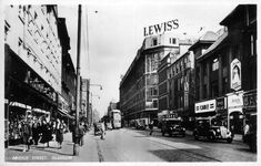 In this busy scene we are looking east along Argyle Street, across the junction with Union Street on the left and Jamaica Street on the right. Argyle Street, Glasgow City, Glasgow Scotland, Scottish Highlands, New Pictures, Old Photos, Street View, History, Places