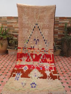 carpet runner moroccan berber rug by moroccowool on Etsy Moroccan Berber Rug, Honeycomb Pattern, Woven Rug, Carpet Runner, Bohemian Rug, Weaving, The Incredibles, Rugs, Antiques