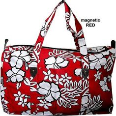 An extra large carry tote for beach, travelling or shopping. Happy Hawaiian prints for that year round summer feeling Available in Red, Black, Pink or Blue Summer Feeling, Hawaiian Print, Beach Tote Bags, Pink Blue, Diaper Bag, Handbags, Tv, Red Black