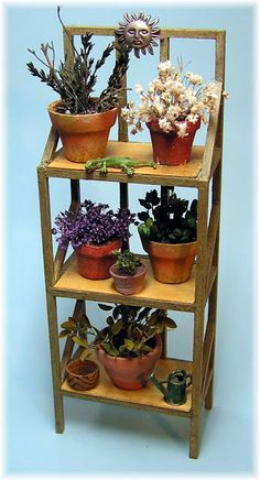 how to: miniature plant rack and plants tutorial